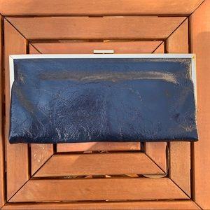 HOBO Bags - Hobo International Navy Blue Gloss Leather Clutch